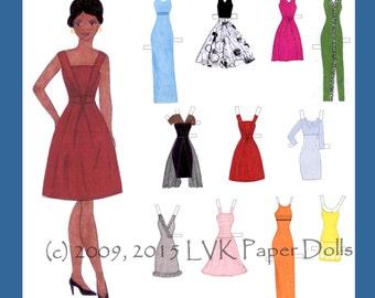 Lillian Fashion Model Paper Doll