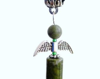 Connemara marble angel pendant or fairy. Irish jewelry