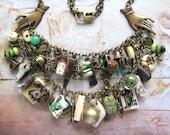Romany Belle - Handmade Vintage Inspired Gypsy Bohemian Statement Charm Bib Necklace