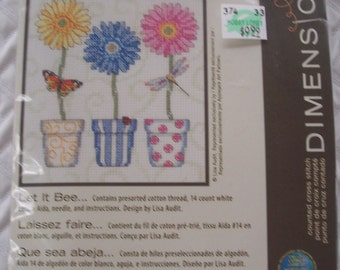 DESTASH - Dimensions Counted Cross Stitch Kit , Let It Bee