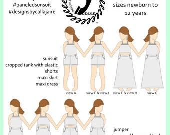 Paneled Sunsuit PDF Pattern