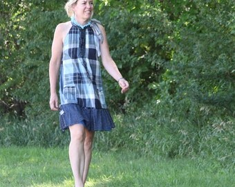 upcycled clothing . S - M .  dress . mowbray