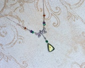 Labradorite Necklace, Dragonfly Necklace, Gemstones - Green Dragon by CircesHouse on Etsy
