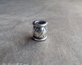 harlequin Style Dreadlock Bead Accessory Extension Accessories Dread Boho Bohemian Hippie Silver