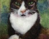 Jack The Cat Thyme Tile Needle Felting Kit