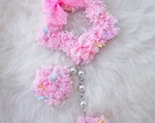 2-Way Pink Mix Pastel Fuzzy Shooting Star Barrette/Pin
