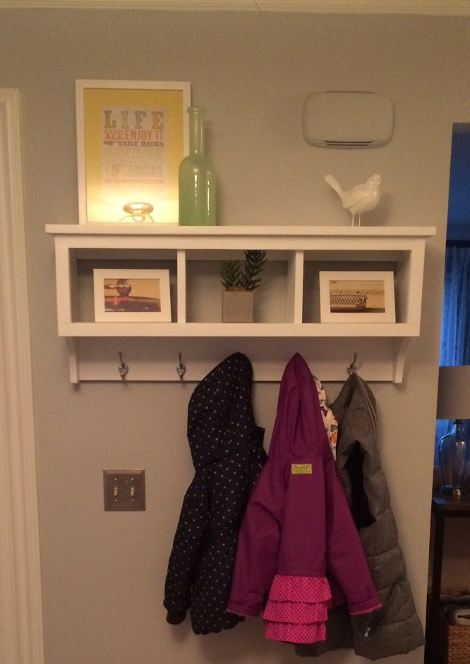 Cubby Wall Shelf Country Shelf For Baskets Bath Or Entryway W