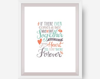 Inspirational Quote Print - Stay With You Forever - Printable Art