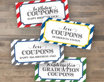 customized COUPON BOOK - dy printable