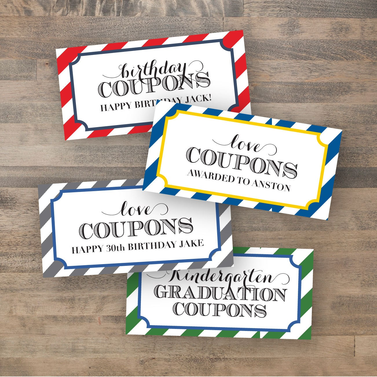 personalized coupon book template - customized coupon book dy printable