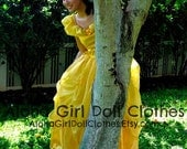 Belle Princess Costume Gown Dress for Girls Teens Adults