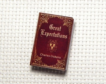 Needle Minder Miniature Book Great Expectations Charles Dickens 1 Inch