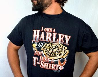 Vintage 80s 90s Harley Davidson Motorcycle Tee Shirt