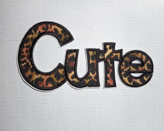 Free Shipping Ready to Ship    CUTE Machine Embroidery    Iron on applique