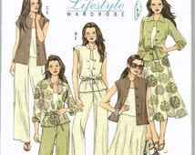 Uncut, Misses Size 8-14, Sewing Pattern, Butterick 4811, Woman, Lifestyle Wardrobe, Jacket, Top, Skirt, Pants, Mix and Match Wardrobe A line