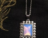 Silver Opal Necklace by MinouBazaar