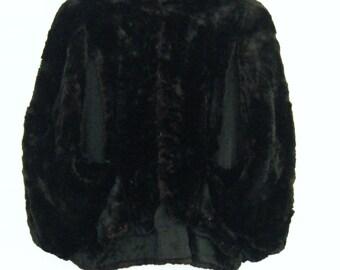 vintage 1930s genuine BEAVER fur OPERA CAPE
