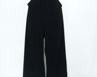 1990s THE LIMITED black PALAZZO Pants, avant garde mens shirt inspired wide leg pants, size 14