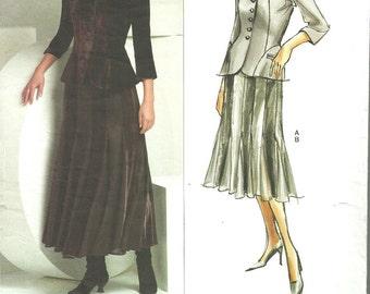 Vogue 2871 / Designer Sewing Pattern By Donna Karan DKNY / Jacket Skirt Suit / Sizes 6 8 10
