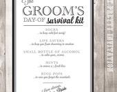Grooms Survival Kit Card - Printable - Style S1 - KIT SERIES