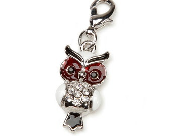 Owl Charm With Lobster Claw Clasp Mix and Mingle Carded Charm