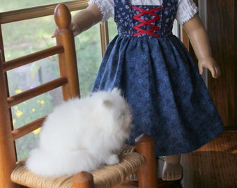 Gretel's Peasant Outfit for Dolls - Jumper & Blouse - Custom Order in Your Choice of Colors