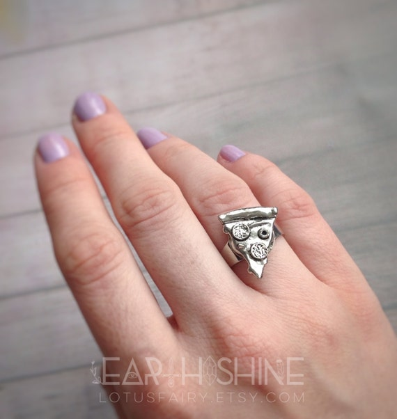 pizza slice ring adjustable from size 4 10 engagement ring - Size 4 Wedding Rings