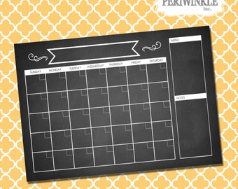 Dry Erase Calendar Printable-Choose Your Size-Print-Perpetual Calendar-Multiple Sizes Available