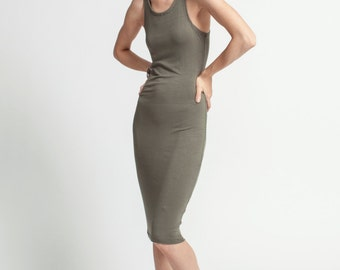 Jersey Dress / Racer Front and Back Dress / Designer Dress / Fitted Dress / Tight Dress / Party Dress / marcellamoda - MD081