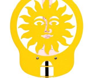 Hand Made Sun Yellow Rain Gauge *NEW*