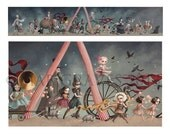 The Carnival - Small -  Limited Edition signed and numbered  4x21.5 Fine Art Print by Mab Graves -unframed