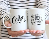 Calligraphy Mug - Coffee. jk, this is totally wine funny coffee mug