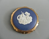 Vintage Statton Compact with Wedgewood Angels - on sale