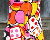 ace dice  60s vtg las vegas amazing print cottonxs dress