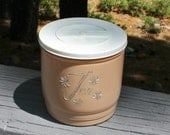 Vintage Plastic Dark Pink and Silver Tea Canister