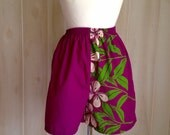 Vintage Hawaii Shorts Tropical Pinup Beach Playdate Ladies fashion Fin in the Sun '60s Large