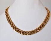 Vintage Napier Gold Link Necklace