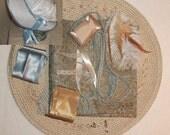 Bonnet Kit- DIY- Aqua and Tan- Regency, Georgian, Jane Austen Era Bonnet