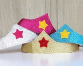 Kids Halloween Accessory - Girls Sparkle Crown - Comfortable and adjustable - Superhero and princess accessory - FROZEN Crown