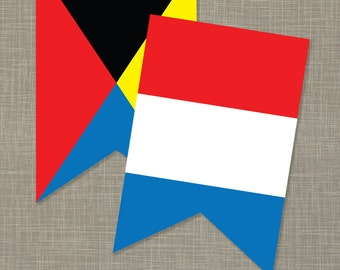 Printable Nautical Flags Banner (PDF)