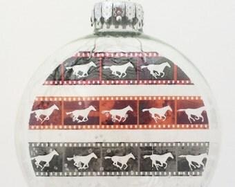 Galloping Horses Christmas Holiday Ornament