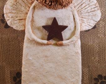 GOLDEN RETRIEVER Angel, OOAK, handmade from Paper Mache, Golden Retriever Angel