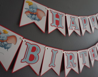 Dumbo Birthday Banner - MADE TO ORDER