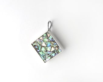 Abalone Mosaic Sterling Silver Pendant