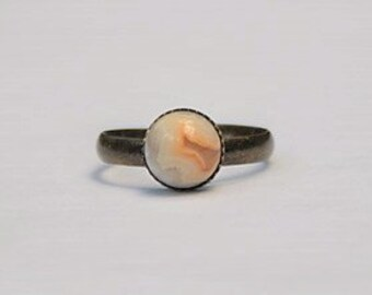 Yellow Ring Yellow Stone Ring Crazy Lace Agate Ring Agate Gemstone Ring Yellow Gemstone Ring Yellow Grey Gemstone Ring