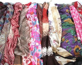 12 Vintage Scarf Collection // 1940s 50s 60s 70s // 12 Scarf Bulk Lot // Retro