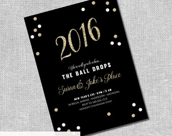 engagement party new year invitation