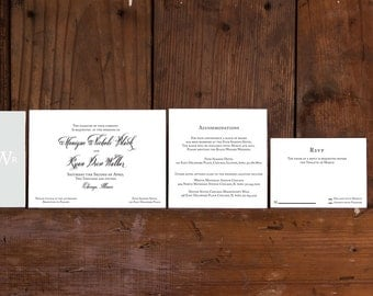 Classic Calligraphy Wedding Invitation Template, Traditional Modern Invitations Digital Download, Modern Calligraphy Wedding Printable, DIY