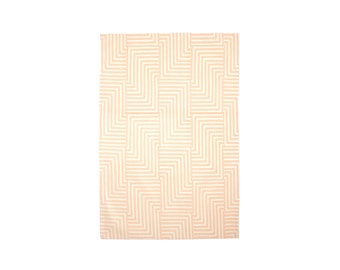 Maze Tea Towel - Geometric Modern Organic Cotton