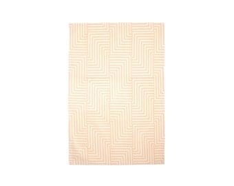 Maze Tea Towel - Geometric Modern Organic Cotton